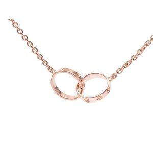 Cartier 18K pink gold love necklace